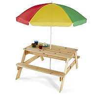 Plum® Wooden Picnic Table with Parasol