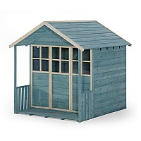 Plum® Deckhouse Wooden Playhouse - Teal