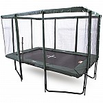 GeeTramp Force 8x12ft Rectangle Trampoline - Black Edition - High Bounce