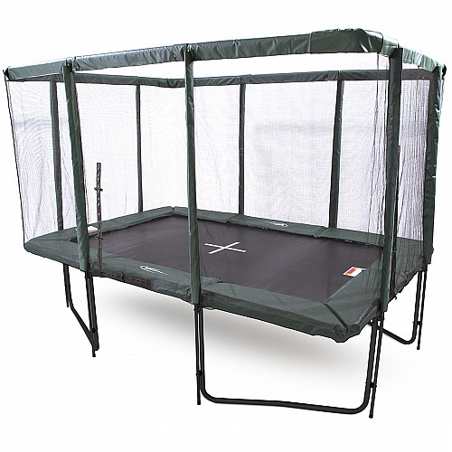 GeeTramp Force 8x12ft Rectangle Trampoline - Black Edition - Standard