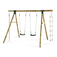 Plum® Gibbon® Wooden Swing Set