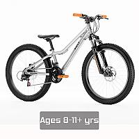 "Vuly 24"" Kids Bike - Silver/Orange"